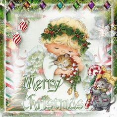 Little Christmas angel ~ Blingee by stina scott