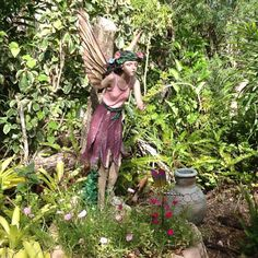 Princess Miss Fairy Cordyline giving the flowers some special fairydust in The Secret Garden