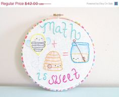 CHRISTMAS in JULY SALE Embroidery Hoop Art - Childrens Decor - Teacher Gift by PlatoSquirrel on Etsy https://www.etsy.com/listing/178371223/christmas-in-july-sale-embroidery-hoop