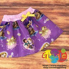 Rapunzel Skirt, Rapunzel Birthday, Princess Rapunzel, Rapunzel Dress, Princess Skirt, Disney Princess, Rapunzel Costume, Tangled, Handmade by LittleGiggleShop on Etsy https://www.etsy.com/listing/264414057/rapunzel-skirt-rapunzel-birthday