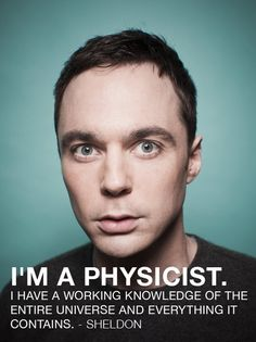 Sheldon reminds me SO much of my older brother, who is also a Physicist.