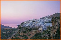The Village of Plaka at Sunset. Milos Island, #Greece Via: http://www.milos-island.gr/villages/plaka.html