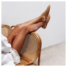 Hand woven loafers by St. Agni