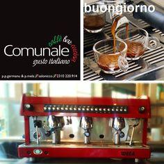 Είμαστε στην ωραιότερη πόλη του κόσμου, είμαστε στην ωραιότερη γωνία της πόλης, φτιάχνουμε τον καλύτερο καφέ της πόλης, όπως ξέρουμε εδώ και πολλά πολλά χρόνια! Πέρνα μια βόλτα να δοκιμάσεις. Όχι δεν ανοίξαμε ακόμα, τις δοκιμές μας τις κάνουμε. Πολύ σύντομα κοντά σας  #comunale #italian_touch #salonicco #espresso