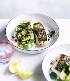 Sicilian+snapper+with+zucchini,+mint+and+pistachio+nuts