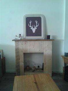 Fausse cheminée fabriquée par Sophie
