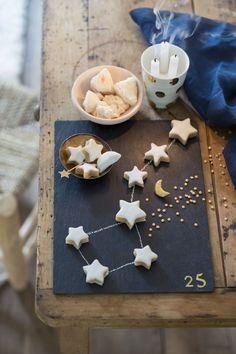 Des calissons en forme d'étoiles