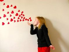 blowing kisses hearts photo idea