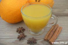 Ρόφημα Αποτοξίνωσης με πορτοκάλι, πράσινο τσάι, κανέλα και γλυκάνισο – enter2life.gr Healthy Mind, Healthy Eating, Detox Drinks, Tea Time, Cinnamon, Pudding, Orange, Cooking, Breakfast