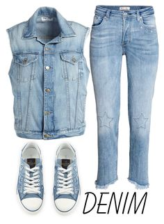 """""""all denim"""" by j-n-a ❤ liked on Polyvore featuring Valentino, Frame and alldenim"""