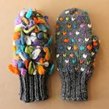 THRUM KNITTING - adds roving or thick wool to socks & mittens