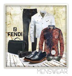 """Fendi Bag III ~ Menswear (Group Contest)"" by misartes ❤ liked on Polyvore featuring MasterCraft Union, AllSaints, Ray-Ban, Fendi, men's fashion, menswear, fendi, groupcontest and fashionfever"