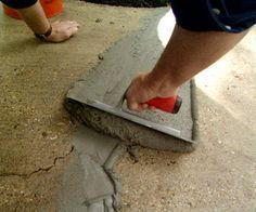 home repairs,home maintenance,home remodeling,home renovation Home Improvement Projects, Home Projects, Home Renovation, Home Remodeling, Concrete Resurfacing, How To Resurface Concrete, Repair Cracked Concrete, Concrete Refinishing, Paint Concrete