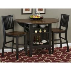 Breakwater Bay Francestown Counter Height Extendable Dining Table Finish: Black