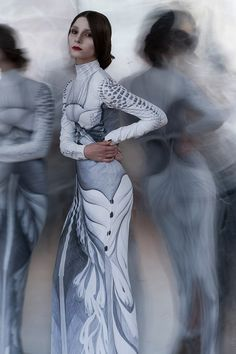 Yulia Chulkova - The idea of exposing one's self can be a daunting measure, however with Yulia Chulkova's latest collection, she creates couture around . Fashion Art, Fashion Show, Womens Fashion, Fashion Design, High Fashion, Dress Outfits, Fashion Dresses, Prom Dresses, Stunning Women