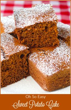 Sweet Potato Cake - a super easy, mix and go spice cake that's a close cousin to gingerbread but with added moisture and flavour from roasted sweet potato.