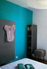 Home Decor Bedroom, Paint Colors, Cabinet, Storage, Inspiration, Furniture, Vide Dressing, Turquoise, Bleu Marine