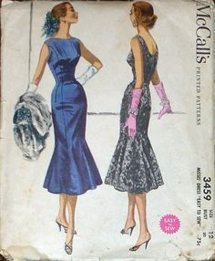 Fantastic skirt on 50s sheath