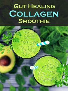 A smoothie that is great for leaky gut and skin issues! #smoothie