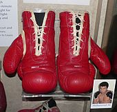 Muhammad Ali's boxing gloves are preserved in the Smithsonian Institution National Museum of American History
