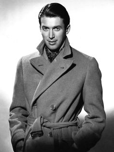 """voxsart: """" The Last Weeks Of Polo Coat Weather. Jimmy Stewart. """""""