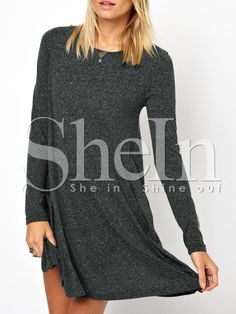 Shop Grey Long Sleeve Babydoll Casual Dress online. SheIn offers Grey Long Sleeve Babydoll Casual Dress & more to fit your fashionable needs.