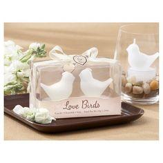 Love Birds White Bird Tea Candles (Set of 12)
