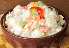 Ensalada rusa paso paso: receta y tips Ensalada Rusa Recipe, Food N, Potato Salad, Mashed Potatoes, Ethnic Recipes, Vestidos, Healthy Salads, Snap Peas, Dressings