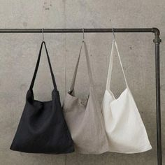 Natural Linen 'Across the Chest' Tote