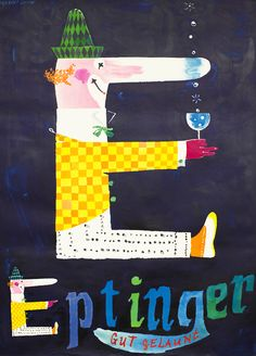 ¤ Vintage Ad 'Eptinger' by Herbert Leupin swiss artist Vintage Advertisements, Vintage Ads, Vintage Posters, Award Poster, Pop Art, Best Book Covers, Elephant Art, Cool Posters, Art Design