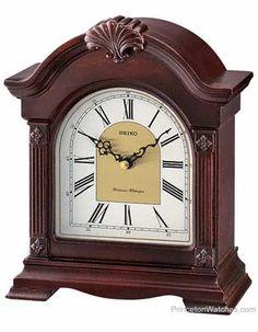 Seiko Jester Desk Clock W Westminster Or Whittington Chime Nighttime Silencer Mantel Clock Clock Desk Clock