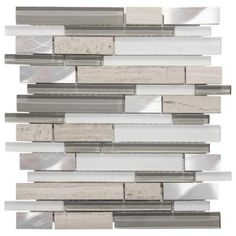 Jeffrey Court Moon Patrol 11.75 in. x 12 in. x 8 mm Glass/Metal/Limestone Mosaic Wall Tile-99717 - The Home Depot