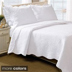 Shop for Greenland Home Fashions La Jolla Seashell Pure Cotton 3-piece Quilt Set. Get free shipping at Overstock.com - Your Online Fashion Bedding Outlet Store! Get 5% in rewards with Club O!