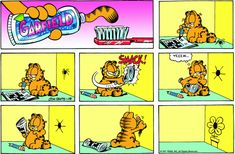 Read today's Garfield comic strip, or search for your favorite! Garfield Cartoon, Garfield And Odie, Garfield Comics, Cat Cartoons, Read Comics, Funny Comics, Comic Pictures, Funny Pictures, Hagar The Horrible