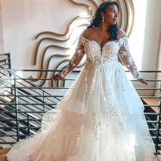 Plus Size Wedding Dresses With Sleeves, Plus Size Wedding Gowns, Wedding Dresses For Girls, Wedding Dress Sleeves, Princess Wedding Dresses, Boho Wedding Dress, Spring Wedding Dresses, Tattoo Wedding Dress, Perfect Wedding Dress