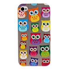 Cute Owl Pattern Hard Case for iPhone 4 and 4S Owl Phone Cases 061dbd690e3