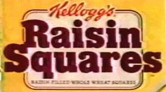 1988 - Commercial - Kellogg's Raisin Squares & Apple Cinnamon Squares Posted on YouTube by: videoarcheology4 Find it here: http://youtu.be/OSZQBv5GaTM Uploaded on November 6 2016 at 07:40PM