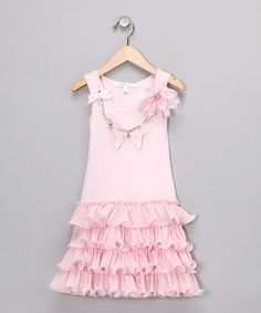 Take a look at this Pink Drop-Waist Dress - Girls by Designer Kidz on #zulily today!