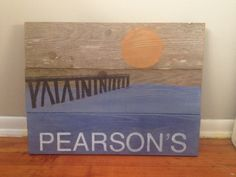 Beach house sign - This personal sign was ordered for the outside of a beach house in White Rock, BC.