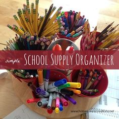 school supply carousel - easy to make and keep supplies handy and organized!