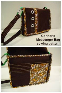 Connor's Messenger Bag free pattern – Sew Modern Bags – Bag Easy Sewing Patterns, Bag Patterns To Sew, Sewing Tutorials, Sewing Projects, Leather Laptop Bag, Leather Purses, Laptop Bags, Leather Bags, Leather Wallets