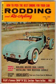 Rodding and Re-Styling June 1960 Old Vintage Car Magazine Custom Classic Hot Rod