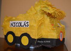 Construction Truck piñata for a construction theme party.