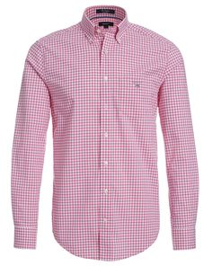 GANT Hemd THE GINGHAM - pink/weiß  Jetzt auf kleidoo.de bestellen! #kleidoo #fashion #men #hemd #karo #rot #gant