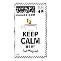 Keep Calm It's My Bat Mitzvah Candle Postage