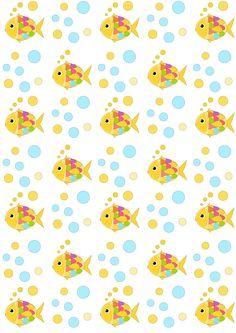 Free digital nautical scrapbooking paper : fishes and bubbles - ausdruckbares Geschenkpapier - freebie | MeinLilaPark – DIY printables and downloads