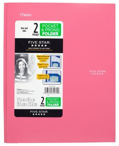 Five Star Folder, Stay-Put Folder, Plastic Colored Folders with Pockets & Prong Fasteners for Binders, For Home School Supplies & Home Office, x Pink/Purple College School Supplies, Cute School Supplies, Office Supplies, Craft Supplies, Five Star Notebook, 2 Pocket Folders, Plastic Folders, College Checklist, Paper Storage