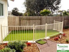 A Dog Run back corner near spare bedrooms... dogs will have side of house to run.  Bring dog house over to that side of yard.