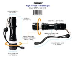 Click Here to learn how you can get your bright led flashlight today! http://simonflashlights.net/product/cree-led-flashlight-t6-pro/ Just $30.00