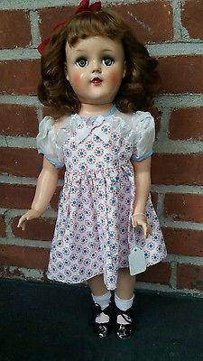"21"" 1950s Brunette Ideal Toni doll P-93 vintage outfit"